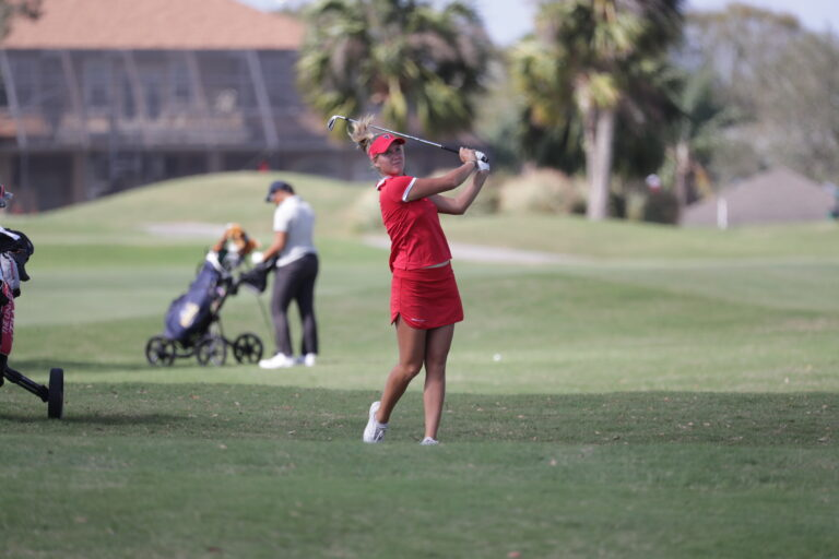 2/19/2018; Lakeland, Fla.;  University of Tampa women's golf at the Lady Moc tournament.