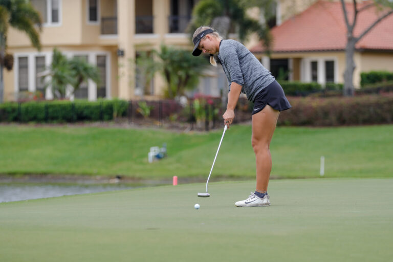 Mar 12, 2019; Windermere, FL, USA; University of Tampa Women's Golf during the Peggy Kirk Bell Invitational at Golden Bear Club, Keene's Point. Mandatory Credit: Mike Watters