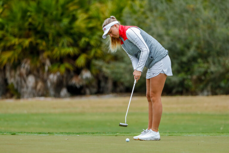 Mar 9, 2020; Windermere, FL, USA; University of Tampa Women's Golf during the Peggy Kirk Bell Invitational at Golden Bear Club, Keene's Point. Mandatory Credit: Mike Watters